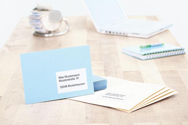 Etiketten Für Briefumschläge Beschriften Eines Kuverts