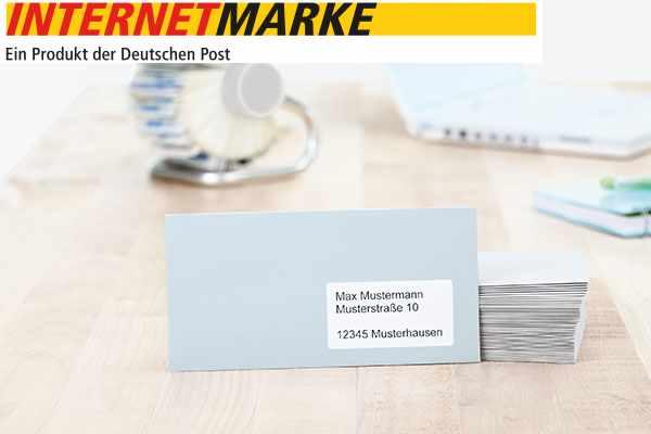 Internetmarke Dhl Online Frankierung Auf Etiketten Drucken Herma