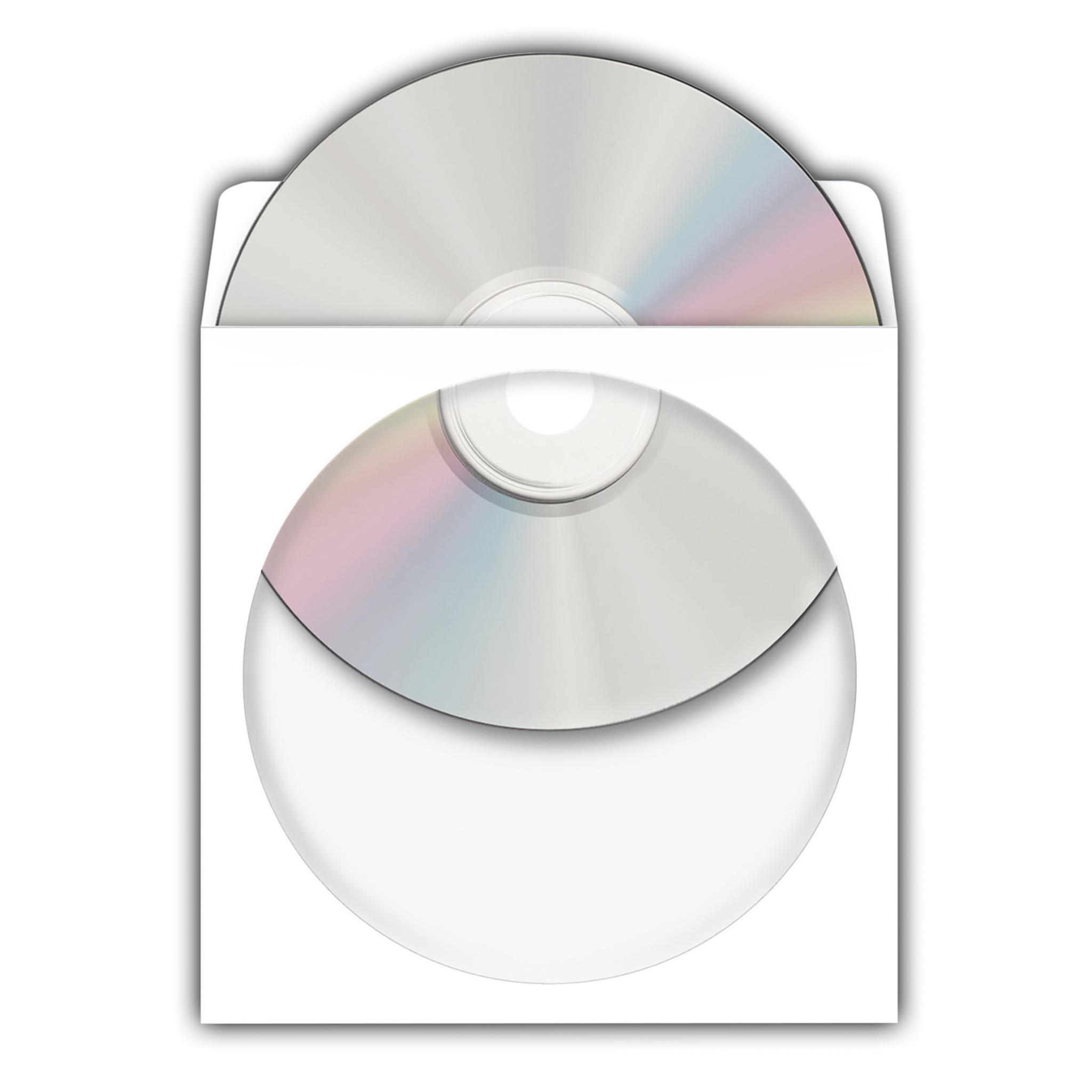 Gut bekannt CD/DVD-Papierhüllen, weiß, mit Klebefläche 100 Stück HS58
