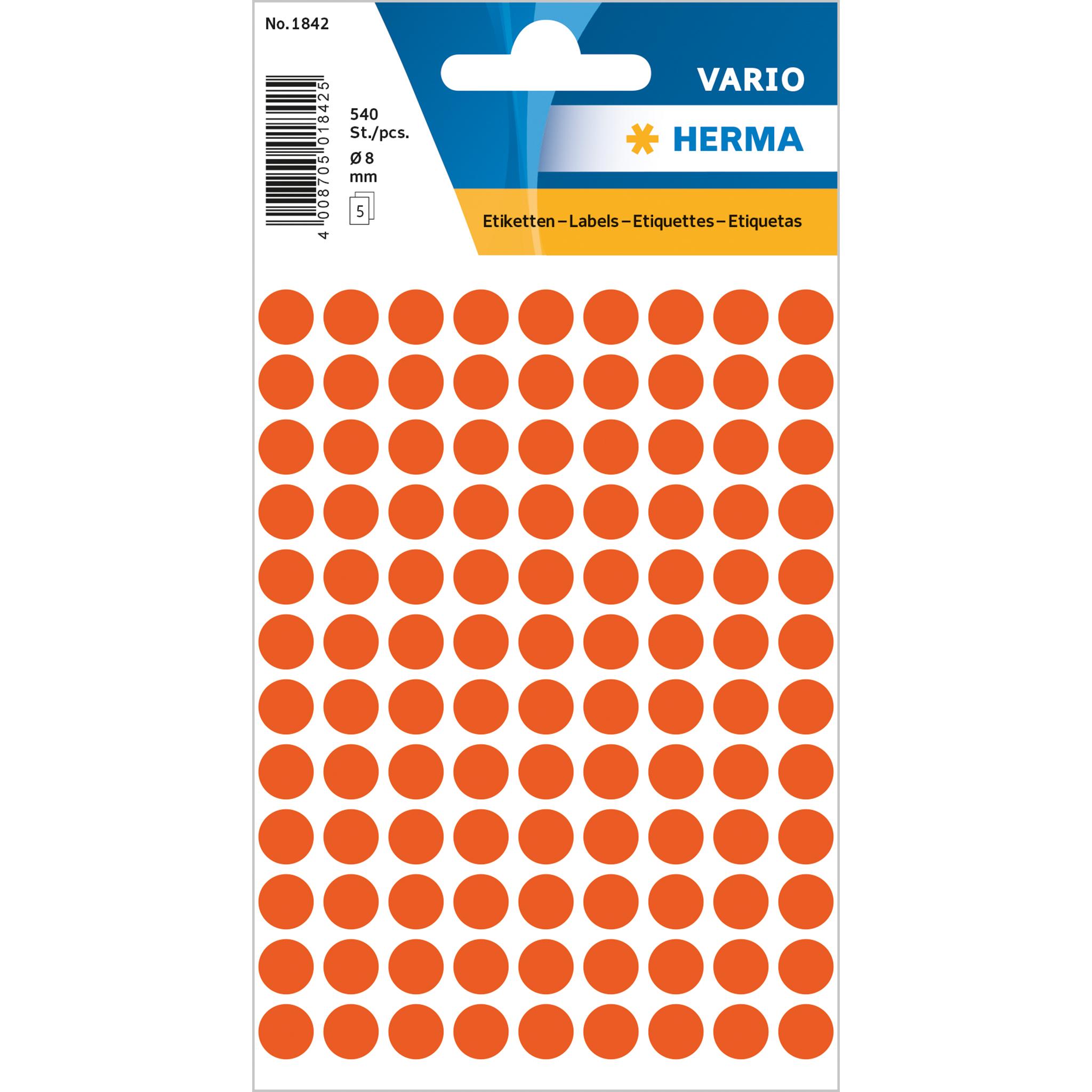 8 mm rot 5.632 Etiketten HERMA Markierungspunkte Durchmesser