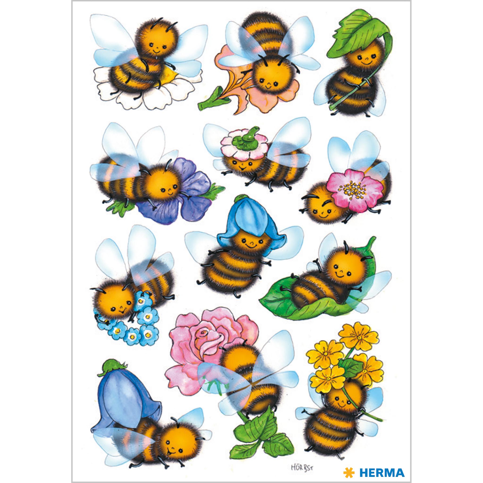 sticker lustige bienen