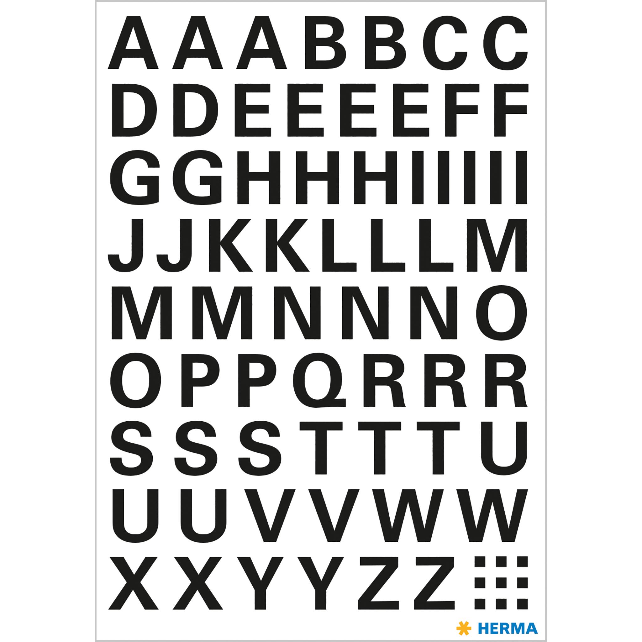 Buchstaben 10 Mm A Z Schwarz Wetterfeste Folie
