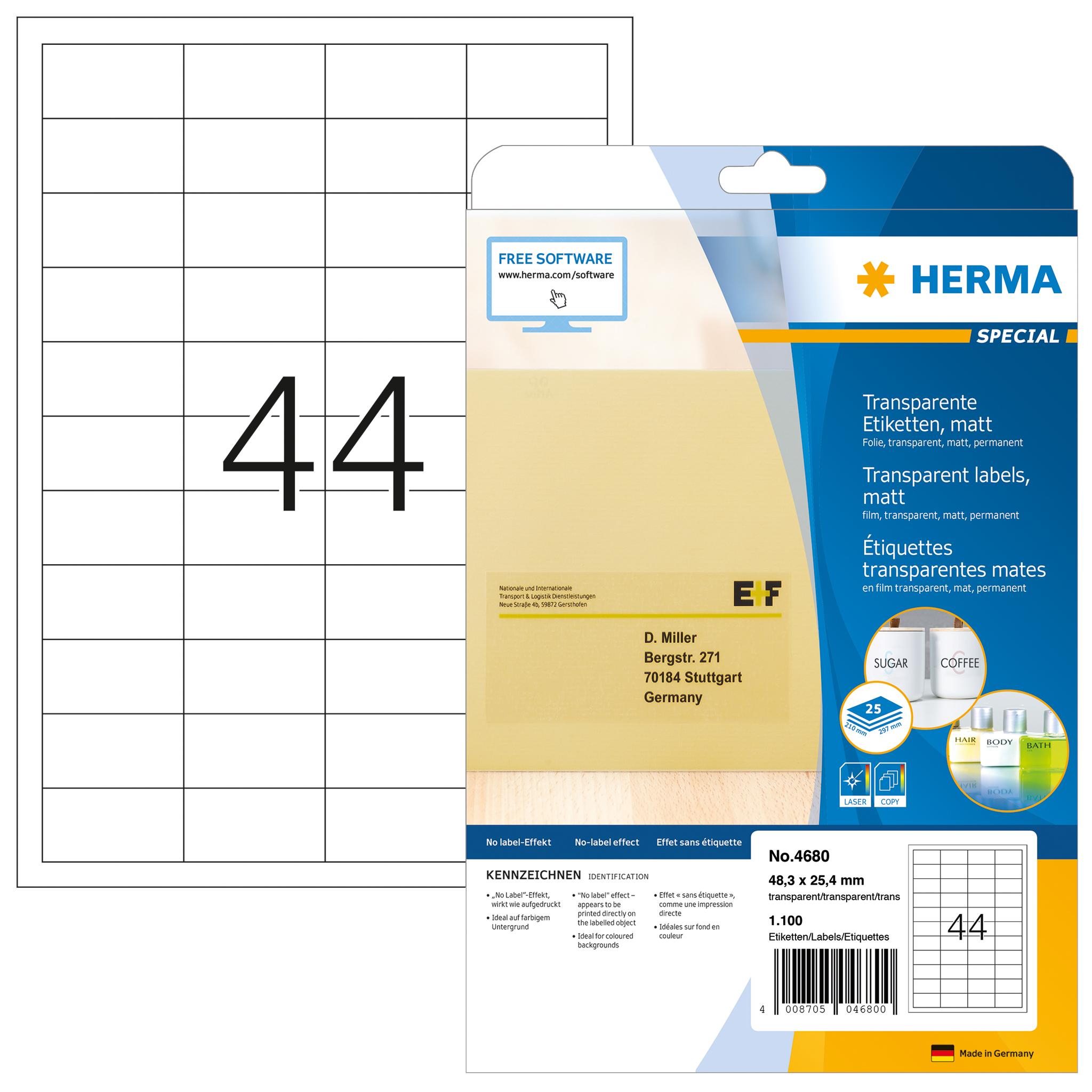 Transparente Etikettenaufkleber Für Laserdrucker Herma