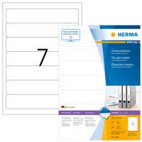 100x HERMA Ordnerrücken-Etiketten weiß permanent haftend DIN A5 Rückenschild